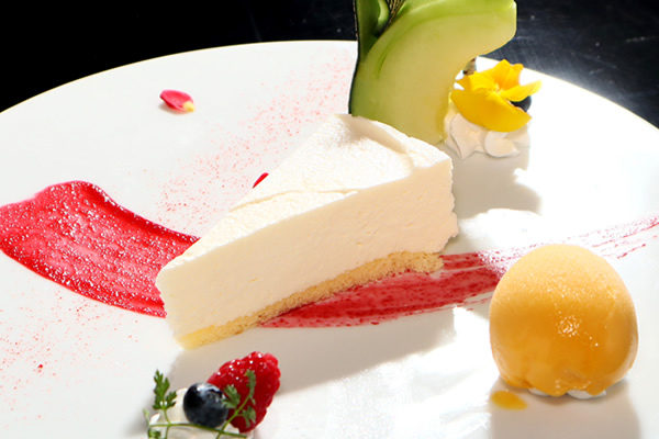 ライムレアチーズケーキとおすすめシャーベット